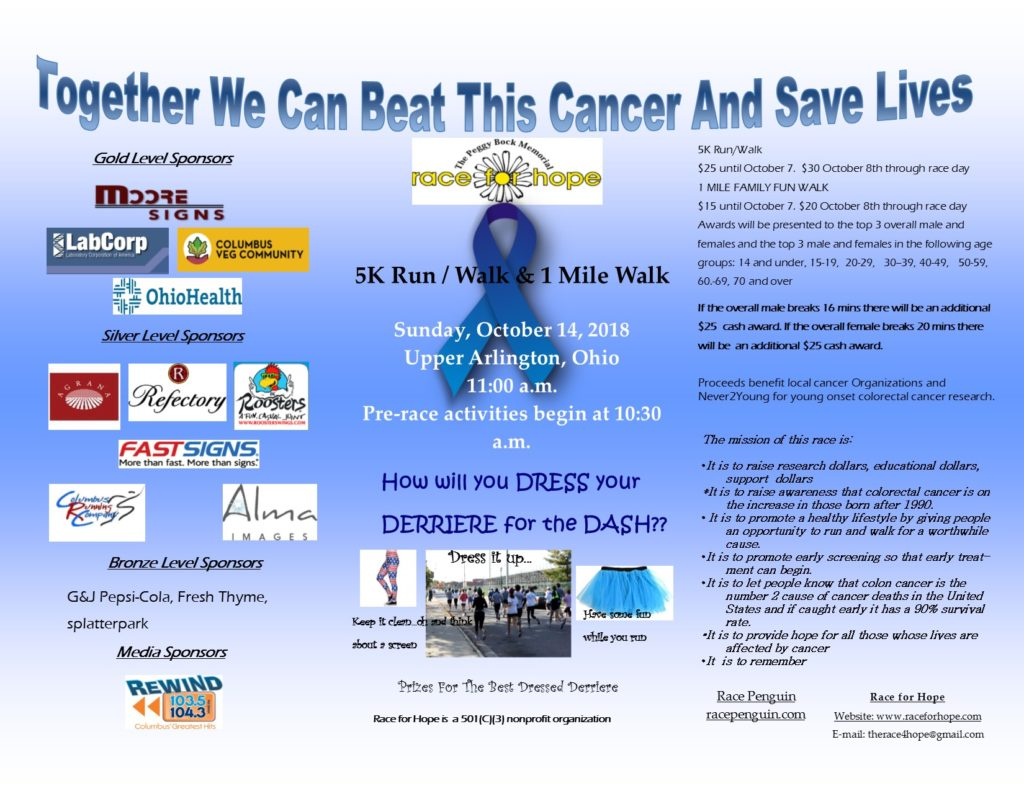 The Peggy Bock Memorial Race for Hope