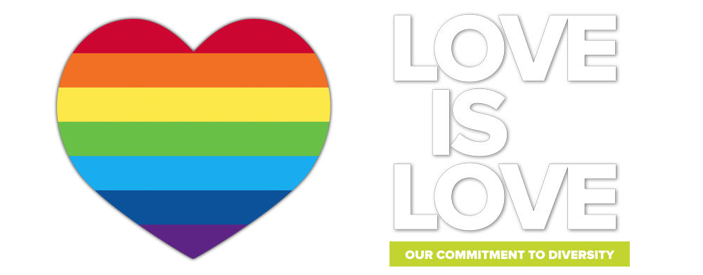 Love is Love - Our commitment to diversity slide
